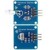 Módulo Transmissor Infravermelho Mini 38KHz IR + Módulo Receptor Infravermelho IR Sensor RPI STM32