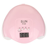 48W LED/UV Manicure Four Speed Non Black Nail Polish Light Curing Machine with LED Display
