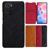 Nillkin for POCO F3 Global Version Case Bumper Flip Shockproof with Card Slot PU Leather Full Cover Protective Case