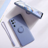 Bakeey for Huawei P40 Pro Case with Lens Protector Ring Holder Dirtproof Anti-Fingerprint Shockproof Liquid Silicone Protective Case