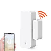 تطبيق WiFi مراقبة ذكي Door المستشعر يعمل مع Tuya Door Open Closed Detectors WiFi Notification إنذار Security إنذار الدعم Alexa Google Home