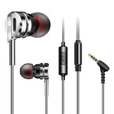 QKZ DM9 Metal Heavy Bass HiFi Earphone 3.5mm Wired In-Ear Earbuds with Mic for Samsung Xiaomi