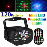 3 IN 1 Rotatable Laser Projector LED Stage Light Sound-activated USB Rechargeable DJ Disco KTV Party Lamp