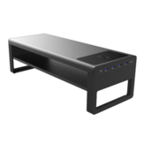 Vaydeer Double Layer Monitor Stand with USB 3.0 Hubs, Wireless Charging