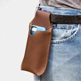 Men Genuine Leather Reteo 6 inch Phone Bag Waist Bag Belt Bag