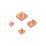 Caturda C2231 4Pcs Pure Copper Heatsink Kit Specially for Raspberry Pi 4B
