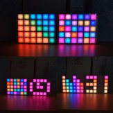 Geekcreit® DIY multifuncional LED Cool Music Spectrum RGB Color Palette Relógio Kit