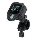 Motocicleta TPMS À Prova D 'Água Real Tempo Sistema de Monitoramento de Pressão Dos Pneus LCD Exibir Sensores WI Internos Sem Fio