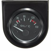Universal Car Black Pointer Oil Temperature Temp Gauge 50-150℃ LED Light 2