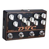 MOSKY DTC 4 in 1エレクトリックギターエフェクトペダル、ディストーションオーバードライブループディレイ