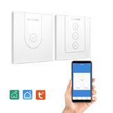BlitzWolf @ BW-SS9 Tuya 800W Wi-Fi Inteligentny włącznik światła naściennego Szklany przełącznik dotykowy Jednobiegunowy/3-drożny pilot aplikacji Sterowanie głosem Harmonogram czasu Praca z Amazon Alexa i Asystentem Google