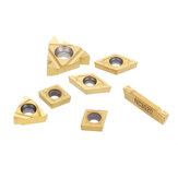 Ένθετα καρβιδίου 7 τεμαχίων για στήριγμα εργαλείου περιστροφικής ράβδου τόρνου 12 mm με ράβδο στερέωσης CCMT060204 11IR 16ER ένθετα καρβιδίου