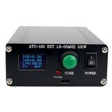 新しいATU100自動アンテナチューナー100W1.8-55MHz / 1.8-30MHz、5-100W短波ラジオ局用に組み立てられた内部バッテリー付き