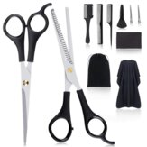 MIGICSHOW 11pcs Hairdressing Set Hair Cutting Thinning Scissors Hair Comb Clips Barber Cape