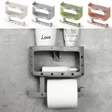 Plastik Toilet Paper Tissue Roll Holder Piala Telepon Rack Shelf Wall Mount Storage