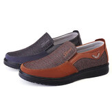 Men's Casual Shoes Leather Round Toe Shoes Non-slip Breathable Outdoor Hiking Flat Shoes