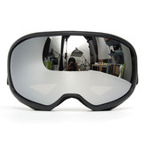 Snowmobile Skiing Goggles Double lente Anti Nebbia UV Snowboard Snow Sport Nero