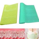 Grote Silicone Lace Flower Mat Embosser Fondant cakevorm Flower Pattern Bakken Tools