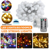 2 M / 5 M / 10 M Batterij Aangedreven Led String Licht 8 Modi Globe Lamp Bal Fairy lamp Voor Patio Outdoor Tuin Christmas Party Decor