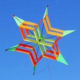 3D Colorful Altıgen Uçurtma Tek Hat FRP Erik Çiçek Uçan Uçurtma Outdoor Spor Çocuklar Erişkin Eğlenceli Oyuncaklar