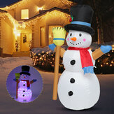 120cm LED Christmas Inflatable Snowman Airblown Light Up Snowman Xmas Holiday Indoor Outdoor Home Yard Party Decoration