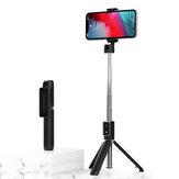 Bakeey P50 2 em 1 bluetooth extensível dobrável tripé selfie Varanda para iPhone 12 POCO X3 NFC celular