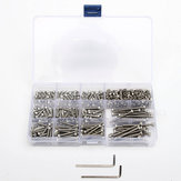 Suleve™ M3SS2 M3 442Pcs Stainless Steel Allen Bolt Nut Hex Socket Cap Screw Assortment Kit