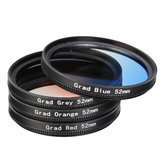 4 Pieces 52mm Graduated Color Lens Filter for DSLR Camera