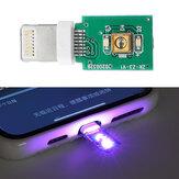 5 Adet 3.3 V Yıldırım Noktası Ultraviyole Dezenfeksiyon Lamba Kurulu Taşınabilir Hızlı UVC Dezenfeksiyon LED Modülü Için Telefon