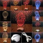 Yaratıcı Optik illüzyon 3D Işık Ofis Ev Dekor Hediyelik Işık USB Led Işıklı Masa Masası Lamba
