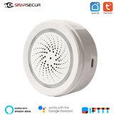 SMARSECUR Tuya Smart Home Wifi capteur de température et d'humidité détecteur d'alarme environnementale fonctionne avec l'application Tuya Smart Life
