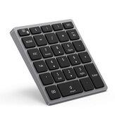 Clavier numérique sans fil bluetooth 28 touches Mini pavé numérique portable rechargeable avec plusieurs raccourcis pour tablette ordinateur portable PC de bureau