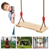 Traditioneller hölzerner Baumschaukelsitz Satz Set für Kinder Erwachsene Kinder Indoor Outdoor Gartenseil Holzschaukelsitz