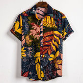 Mens Summer Vacation Casual Floral Printing Hawaiian Shirts