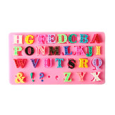 Alfabet Silicone Mould Hoofdletter Punctuatie Fondant Biscuit Cake Mould