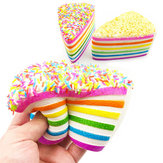 14x9x8cm Squishy Rainbow Cake Simulation Super Langsom Stigende Sjov Gave Toy Decoration
