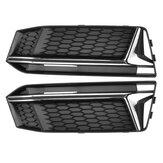 1 пара сотовая передняя решетка решетки бампера противотуманная фара для Audi A4 B9 S-Line S4 2016-2018