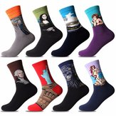 Multicolors Painting Pattern Cotton Art Socks