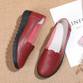 Frauen täglich runde Zehen Soft einfarbige flache Slipper Schuhe