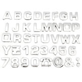 40pcs 3D DIY Metallic Alphabet&Number stickers car Emblem letter Badge Decal