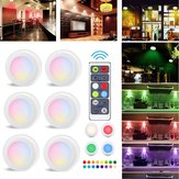 3pcs 6pcs Colorful LED Cabinet Lamp Hallway Counter Kitchen Display Light with Remote Controller