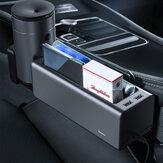 Baseus Dual USB Aufladen Power Car Organizer Autositz Spaltlücken Aufbewahrungsbox Cup Handyhalter für Taschen Verstauen Aufräumen Organizer Autozubehör