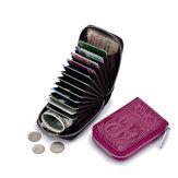 ЖенскоеНатуральнаяКожа12слотдля карты Mini Coin Кошелек