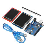 Geekcreit® UNO R3 Verbeterde versie + 2.8TFT LCD-touchscreen + 2.4TFT Touch Screen Display Module Kit Geekcreit voor Arduino - producten die werken met officiële Arduino-boards