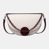 Women Chains Irregular Shape Saddle Bag Shoulder Bag
