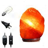 30 X 18см гималайский свечение ручной работы натуральный кристалл соли ночь настольная лампа свет с диммер