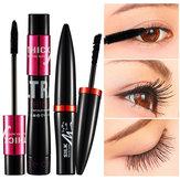 Black Silk Mascara Makeup Set Przedłużanie rzęs 3D Fibre