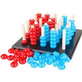 Çocuk Ahşap Oyuncaklar Gobang Oyunları Çocuklar El-göz Koordinasyonu Eğitici Oyuncaklar Hediye
