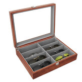 Glasses Display Case Grids Storage Box Jewelry Collection Case Organizer Holder