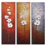 3 unidades de flores em tela de pintura de parede impressão decorativa imagens de arte sem moldura decorações de parede para escritório doméstico